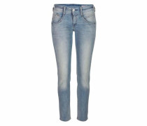 Skinny Jeans mit Used Effekten 'Gila' hellblau