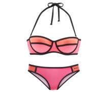 Balconette-Bikini orange / koralle / pink