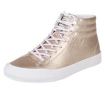 Sneaker in Metallic-Optik gold
