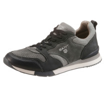 Sneaker im Material Mix grau