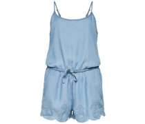 Ärmelloser Playsuit blue denim