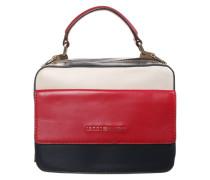 Handtasche in Colour Block Design rot / weiß / navy