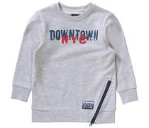 Sweatshirt mit Reißverschluss für Jungen dunkelblau / grau / karminrot