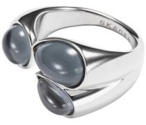 Ring mit Glassteinen silber