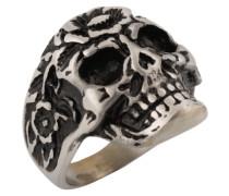Ring mit Totenkopf silber