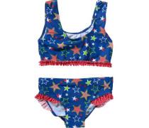 Bikini mit UV-Schutz blau