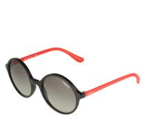Sonnenbrille mit kontrastfarbenen Bügeln