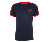 T-Shirt 'clfn Tee' dunkelblau / rot