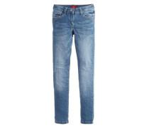 Skinny Suri: Used Denim blue denim