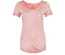 T-Shirt mit dezentem Paillettenband pink