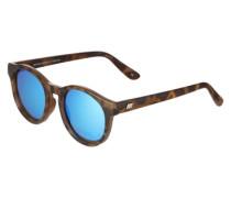 Runde Sonnenbrille 'Hey Macarena' braun / blau
