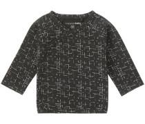 Langarmshirt Grayslake schwarz / weiß