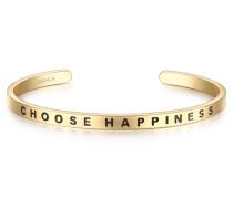 Armreif Bangle mit Schriftzug Choose Happiness