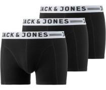 Boxershorts 3er-Pack Basic schwarz / weiß