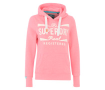 Kapuzenpullover 'Real registered hood' pink