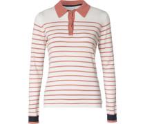 Pullover rostrot / weiß