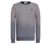 Sweatshirt taubenblau / hellgrau