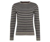 Pullover mit Ringel-Muster hellgrau / dunkelgrau