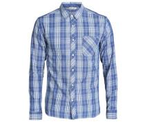 Long sleeved shirt Karo blau