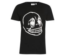 T-Shirt mit Front-Print schwarz