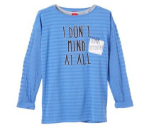 2-in-1-Langarmshirt mit Top blau