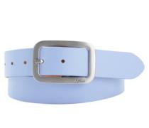 Ledergürtel mit Metallschließe royalblau