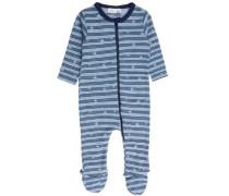 Schlafanzug Woll-/Baumwoll- blau / ultramarinblau / hellblau