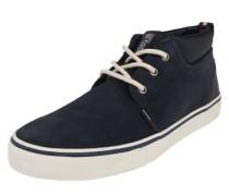 Leder-Sneaker dunkelblau