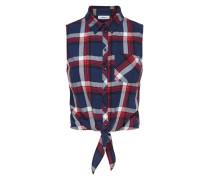 Hemd ohne Ärmel Kariertes blau / rot