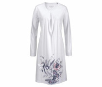 Sleepshirt 'Rhapsody' mit floralem Frontprint navy / rosa / weiß