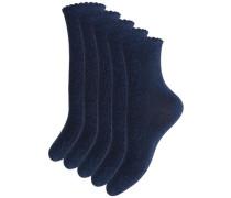Socken 5er-Pack blau