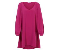 Blusenkleid mit geschlitzten Ärmeln pink