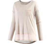 Langarmshirt Damen pink