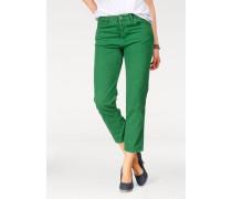 Straight-Jeans grün