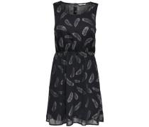 Print Kleid ohne Ärmel schwarz / silber