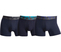 Boxer CR7 Basic Trunk 3-pack blau / türkis / dunkelblau / anthrazit