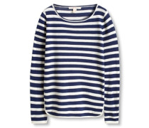 Gestreifter Pullover blau