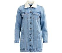 Jeansjacke Detailkragen blue denim / weiß