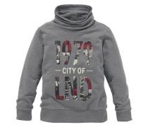 Sweatshirt mit Stehkragen für Jungen grau / weiß