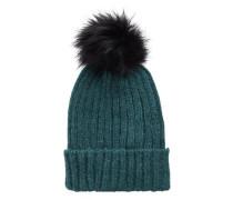 Pompom-Mütze grün
