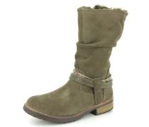 Stiefel Leder beige / grau