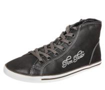 Sneaker High mit Logo grau