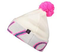 Bommelmütze 'reissue' blau / pink / weiß
