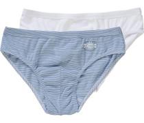 Slips Doppelpack für Jungen blau / weiß