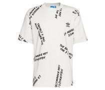 T-Shirt mit Allover-Print 'nyc' weiß