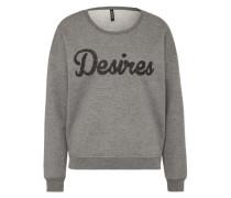 Sweatshirt 'luppe' graumeliert
