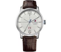 Armbanduhr »Casual Sport 1791217« braun / silber / perlweiß