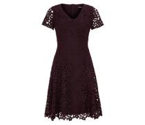Kleid aus floraler Spitze rot