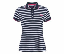 Poloshirt 'applique Polo' navy / weiß