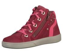 Sneaker graumeliert / pink / blutrot